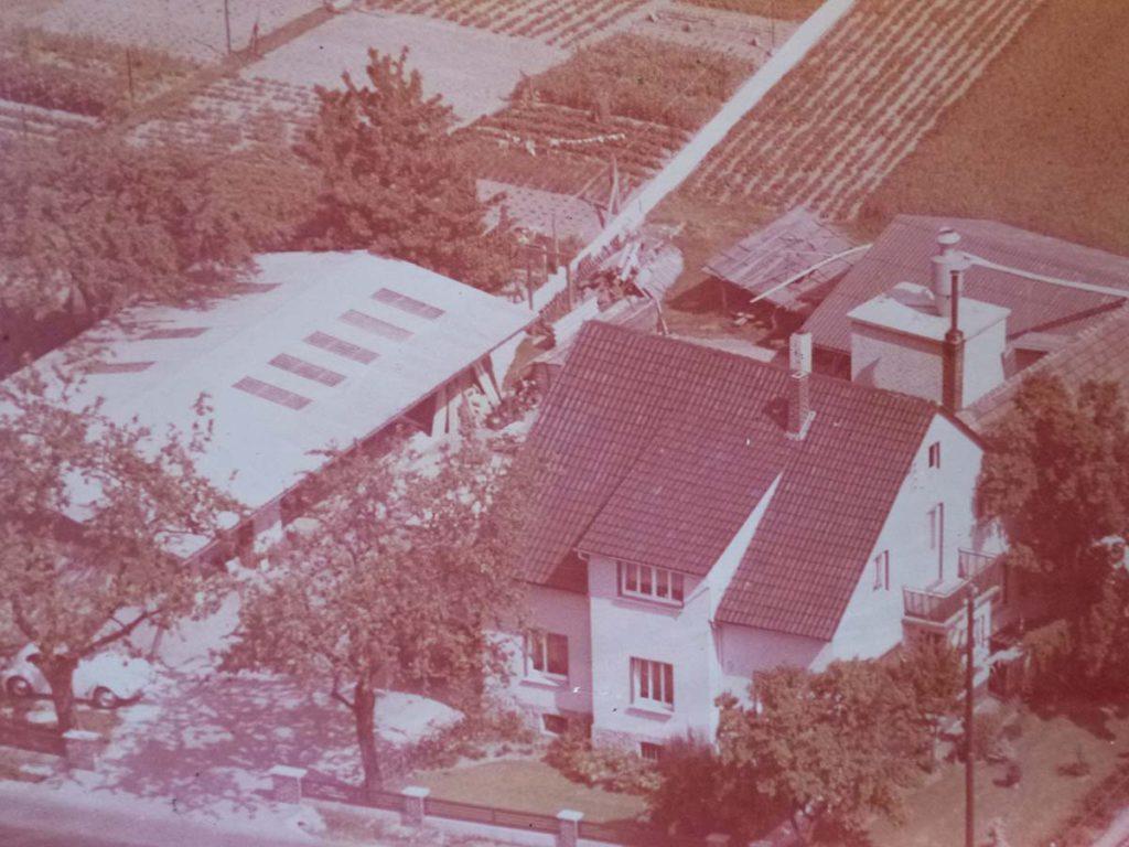 Luftaufnahme aus dem Jahr 1973