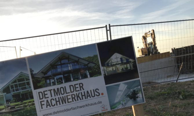 Detmolder Fachwerkhaus Baustelle