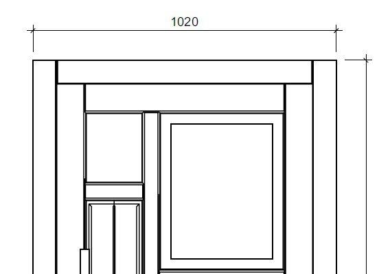 Haustür Zeichnung