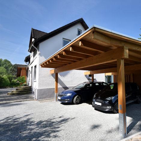 schulze holzbau referenz carport 01 470x470 - Doppelcarport mit genügend Platz