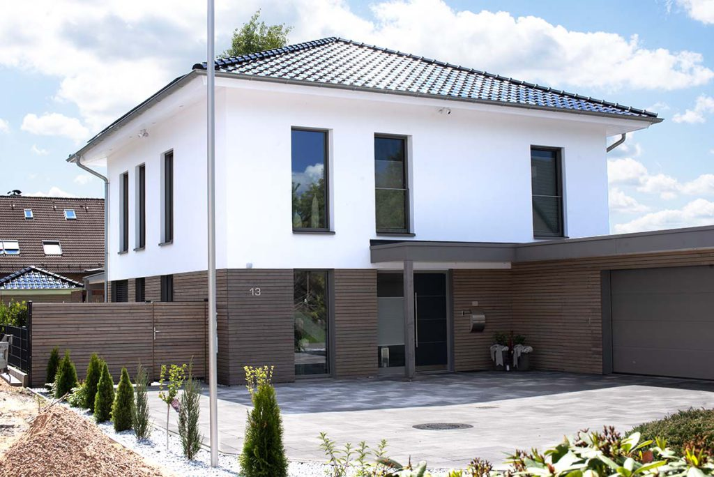 schulze holzbau referenz einfamilienhaus stadtvilla 1 1024x684 - Fassade